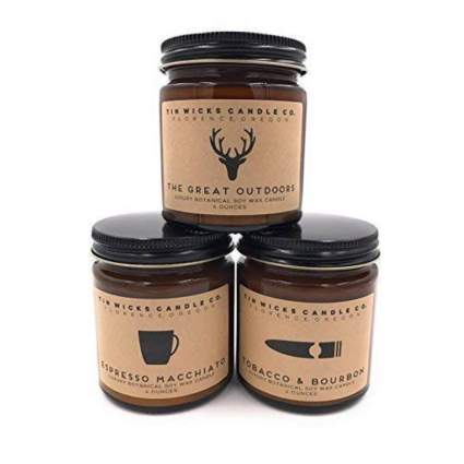 candle gift set for men