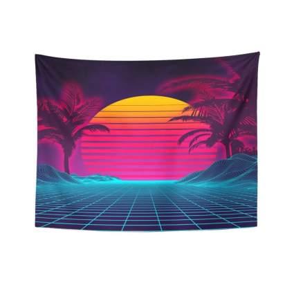 tompop retro futuristic tapestry