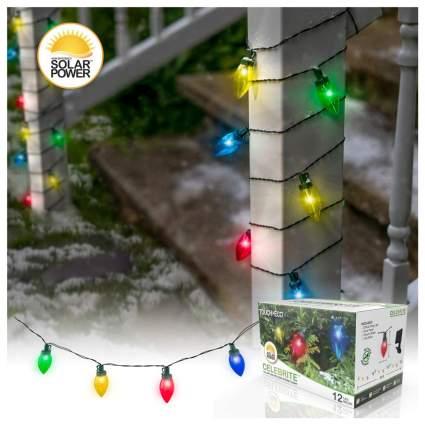 Coloful christmas lights