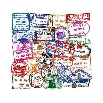 50 Piece Waterproof Immigration Stickers