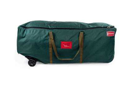 Large green duffle with wheels