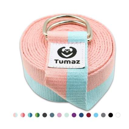 Tumaz Yoga Strap/Stretch Bands with Adjustable D-Ring Buckle