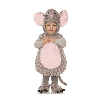 Underwraps Mouse Girls Toddler Grey Belly Baby Costume