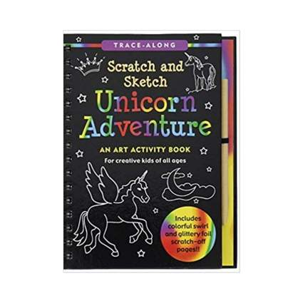 Unicorn Adventure Scratch and Sketch: An Art Activity Book for Creative Kids of All Ages by Lee Nemmers