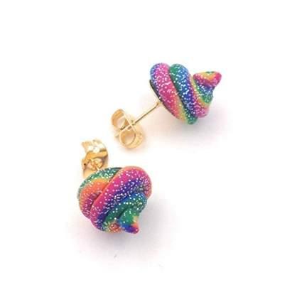 Unicorn Poop Stud Earrings