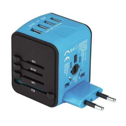 Castries Universal Travel Adapter with 4 USB Ports
