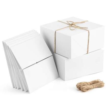 White square box