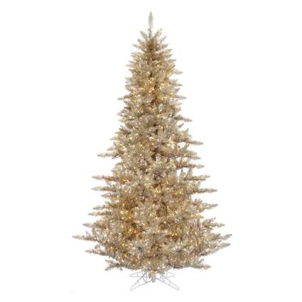 Gold realistic Christmas tree