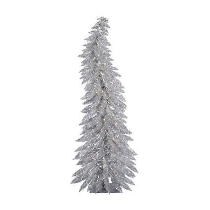 Curved Silver Christmas tree