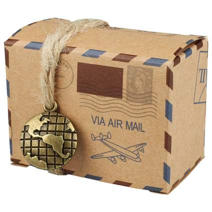 Gift box that looks like an airmai package