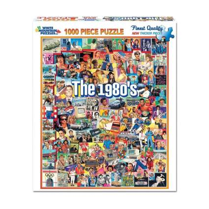 white mountain puzzles the 80s 1000 piece puzzle