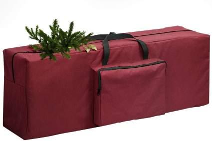 Dark red storage bag for Christmas tree
