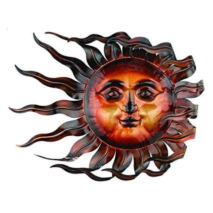 windswept sun outdoor wall plaque