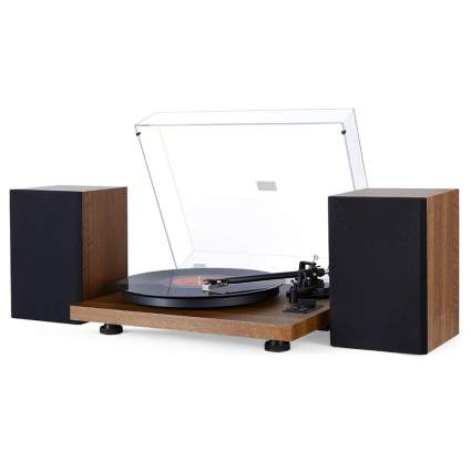 wireless turntable with speakers