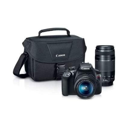 $350 Off Canon Digital SLR Camera Kit [EOS Rebel T6] with EF-S 18-55mm and EF 75-300mm Zoom Lenses