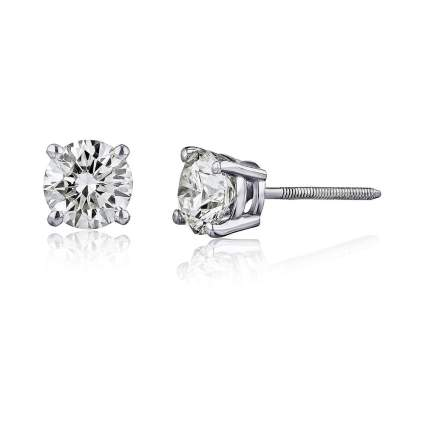 $599 Off Two Carat AGS Certified Brilliant-Cut Diamond Earrings