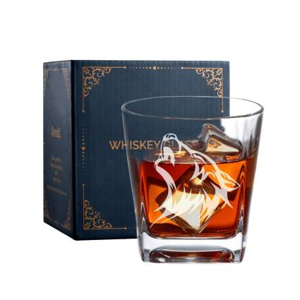 Wolf Whiskey Glass
