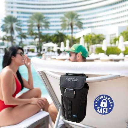 FlexSafe Anti-Theft Portable Beach Chair Safe