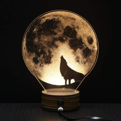 LED Wolf Table Lamp
