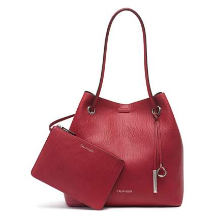 calvin klein vegan leather tote bag