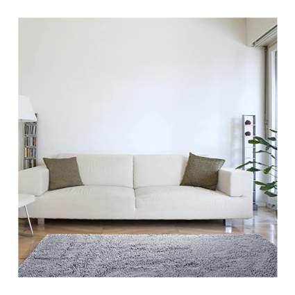 gray shag rug