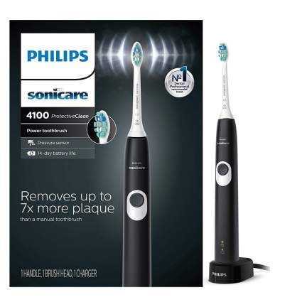 Black philips sonicare toothbrush