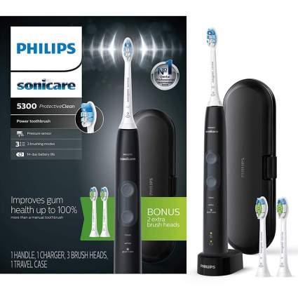 Black Sonicare toothbrush