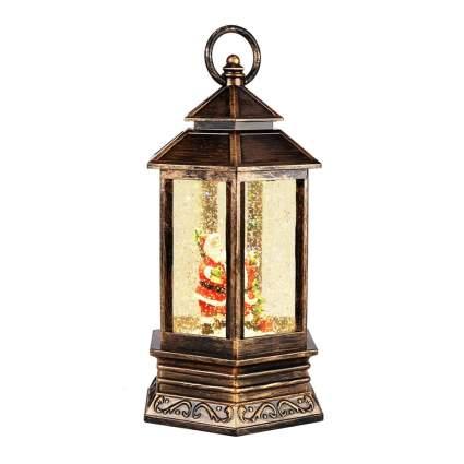 santa lantern snow globe
