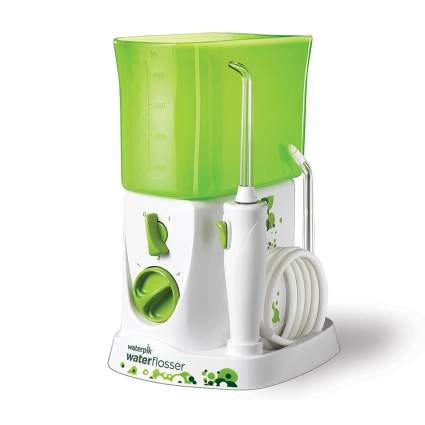 Bright green and white kid's water flosser
