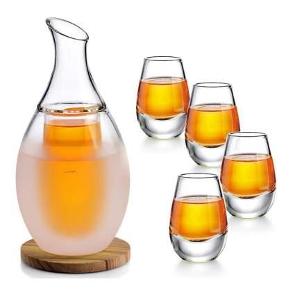 Glass sake set
