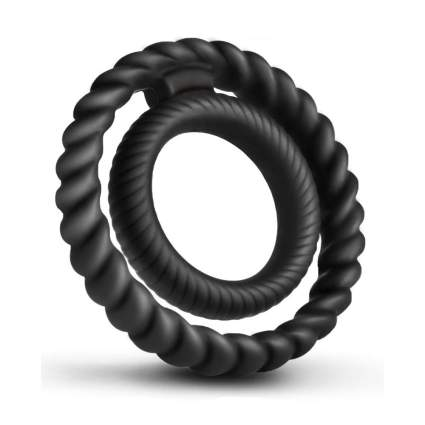 Two black silicone rings