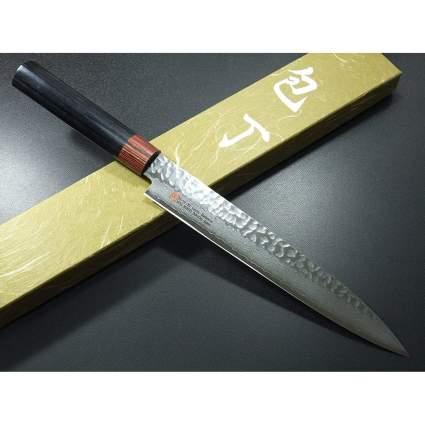 Large Damascus kitchen knife