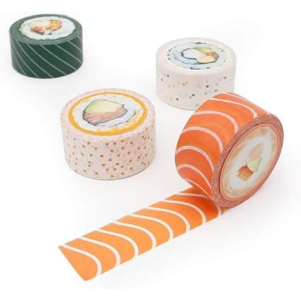 Washi tape that looks like sushi rolls