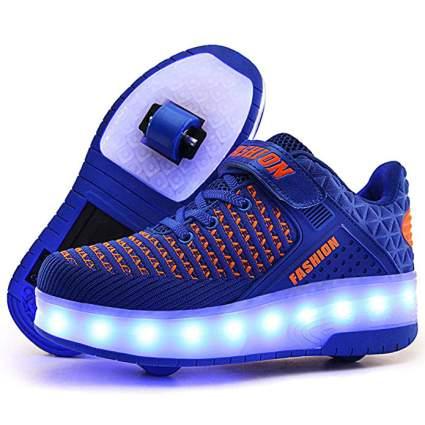 Aikuass USB Chargable LED Light Up Roller Shoes