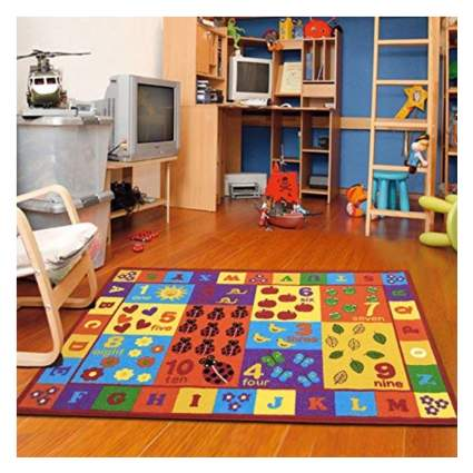 alphabet letters and numbers rug