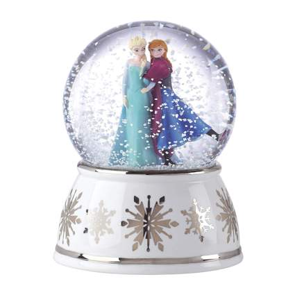 anna and elsa frozen snow globe