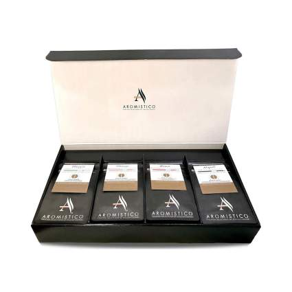 Aromistico Gourmet Roast Whole Bean Coffee Gift Basket