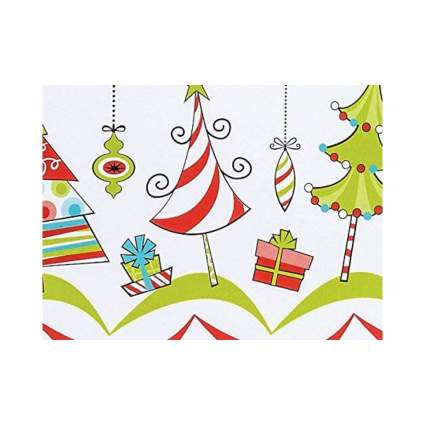 Buttons Bags and Bows Whimsical Trees & Ornaments Christmas Wrapping Paper