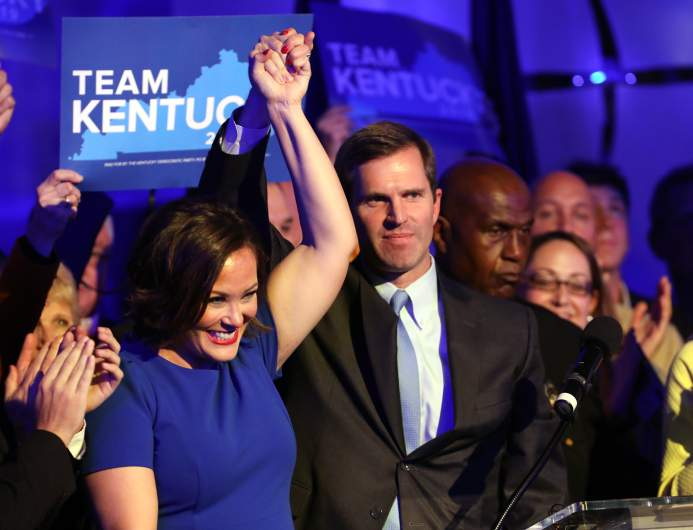 Andy Beshear and Jacuqeline Coleman