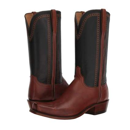 black and brown men's western boots
