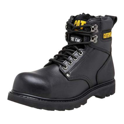 black steel toe work boot