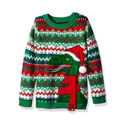 Blizzard Bay Raptor Kids Ugly Christmas Sweater