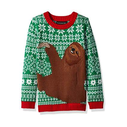 Blizzard Bay Sloth Kids Ugly Christmas Sweater