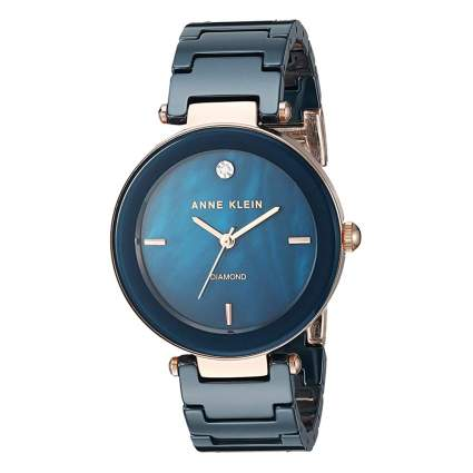 blue ceramic bracelet watch