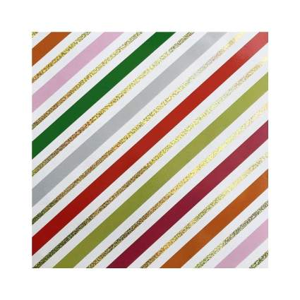 Buttons Bags and Bows Glitter Peppermint Stripe Gift Wrap
