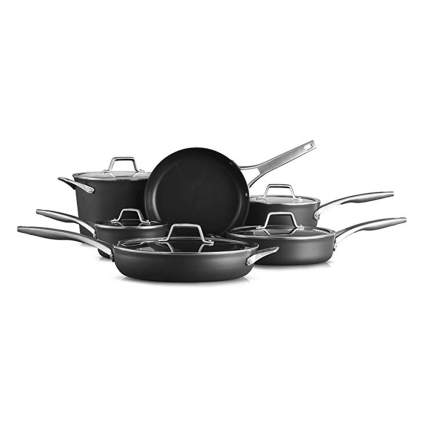 11 piece anodized cookware set