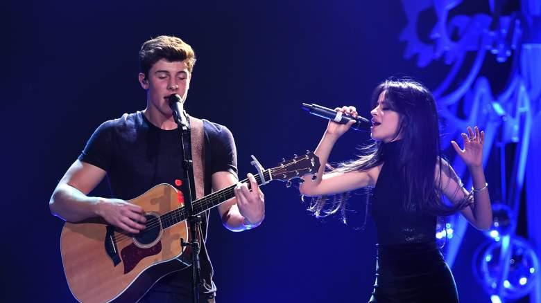 Camila Cabello and Shawn Mendes perform at 102.7 KIIS FM's Jingle Ball.