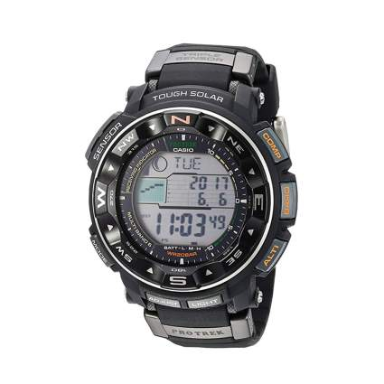 black digital sports watch
