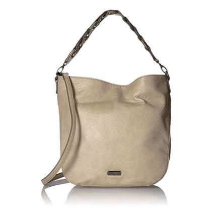 taupe hobo bag
