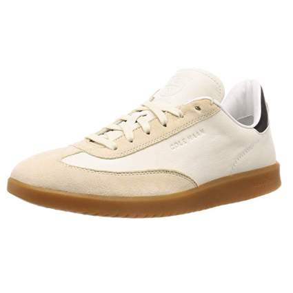 men's cream suede turf shoes